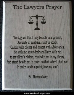 The Lawyers Prayer