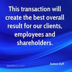 This transaction will 