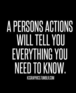 A PERSONS ACTIONS 