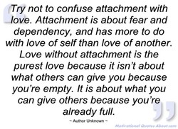 (Try not to confuse attachment with 