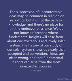 The suppression of uncomfortable 