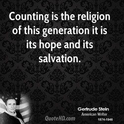 Counting is the religion 
