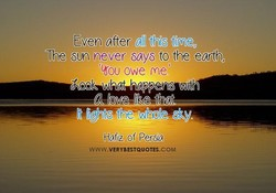 Even after 