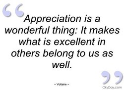Appreciation is a 