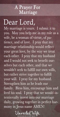 A Prayer For 