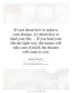 It's not about how to achieve 