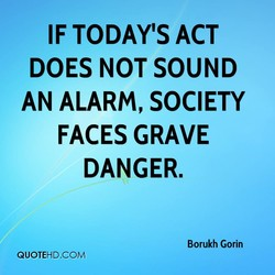 IF TODAYS ACT 
