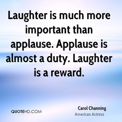 Laughter is much more 