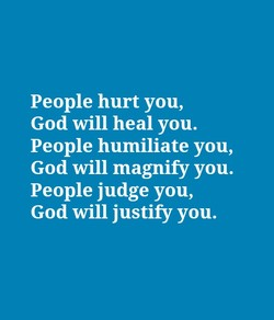 People hurt you, 