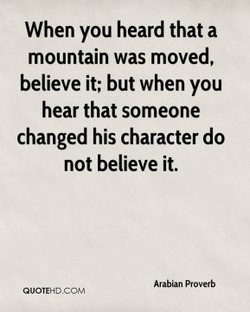 When you heard that a 