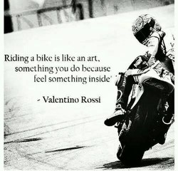 Riding a bike is like an art, 