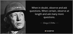 When in doubt, observe and ask 