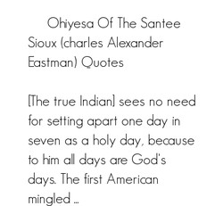 Ohiyesa Of The Santee 