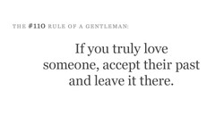 THE #110 RULE OF A GENTLEMAN: 
