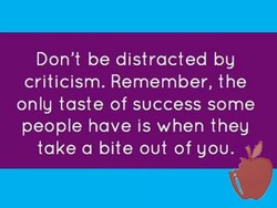 Don't be distracted by 