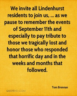 We invite all Lindenhurst 