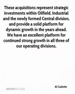 These acquisitions represent strategic 