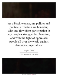 As a black woman, my politics and 
