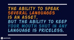 THE ABILITY TO SPEAK 