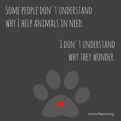 SOME PEOPLE DON' UNDERSTAND 