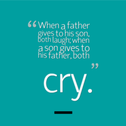 When a father 