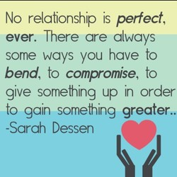 No relationship is perfect, 
