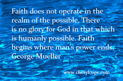 Faith does not epergte-in the 