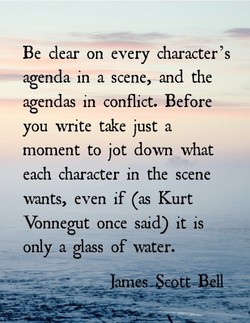 Be clear on every character's 