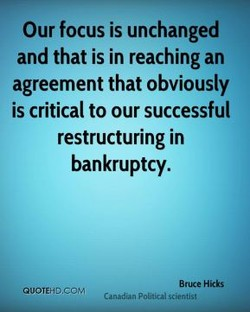 Our focus is unchanged 