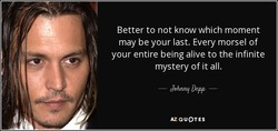 Better to not know which moment 