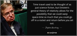 Time travel used to be thought of as 
