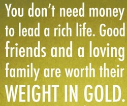 YOU don't need money 