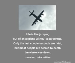 Life is like jumping 