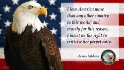 I love America more 