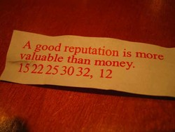 A good reputation is more 