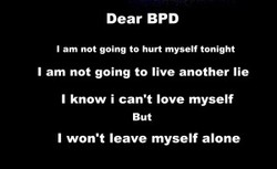 Dear BPD 