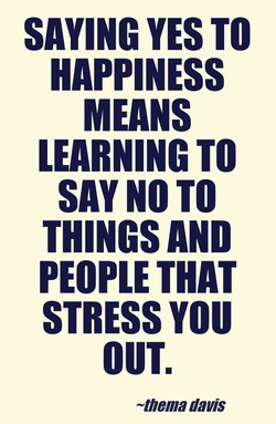 SAYING YES TO 