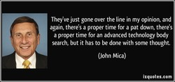 They've just gone over the line in my opinion, and 
