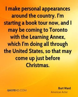 I make personal appearances 