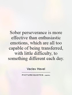 Sober perseverance is more 