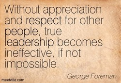 Without appreciation 