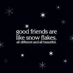 good friends are