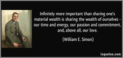 Infinitely more important than sharing one's 