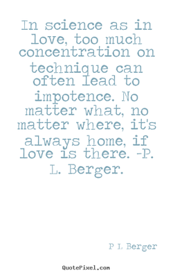 In science as in 