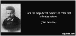 I lack the magnificent richness of color that 