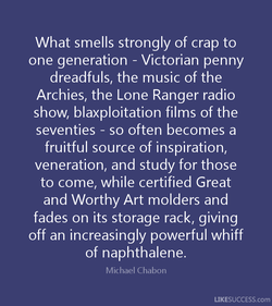 What smells strongly of crap to 