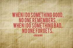 WHEN DO SOMETHING GOOD, 