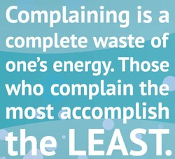 Complaining is a 