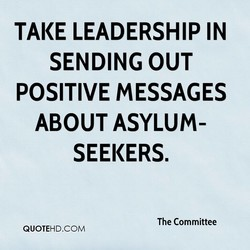 TAKE LEADERSHIP IN 