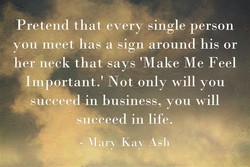 Pretend that every single person 